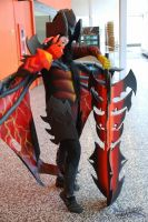 Female Aatrox Cosplay Otakuthon 2014 03 by KyuProduction