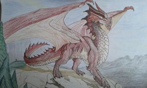 Dragon rouge et or by ophelie16
