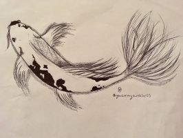 InkTober~ Day One- Koi Fish by DixieLuve