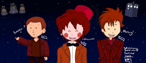 Doctor Who 50th Anniversary (9, 10,11) by LittleKittyLionheart