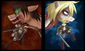 Attack on Titan MLP by Derpsonhooves