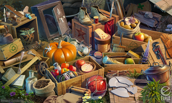 Hidden object scene - Crash site by aleksandr-osm