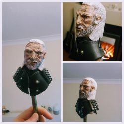 Geralt of Rivia - Miniature Sculpture (Painted) by makerforge