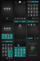 Metro Black Theme Android Go Launcher Ex by gseth