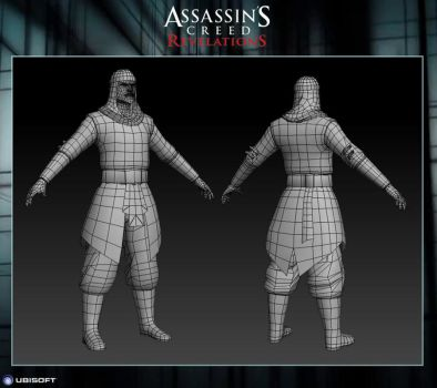 Assassin's Creed Revelations: The Vizir Wireframe by Dipnusurf