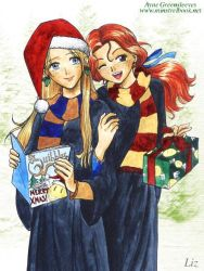 Christmas Luna and Ginny by Alkanet