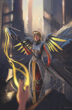 Cosplay Illustration: Mercy (Evey Dantes) by LostDecay