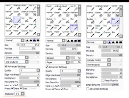 Brush Settings by yeorre