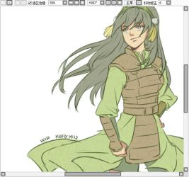 Master Toph_WIP by kelly1412