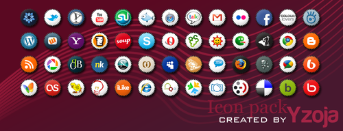 Icon pack no. 1 by Yzoja