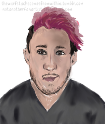 Markiplier Digital drawing #1 by NotAnotherFanArtist