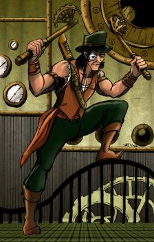Steampunk Pirate on the Prowl by SkyFitsJeff