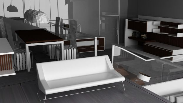 Modern Living Room by InstantMotion