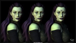 Barriss Offee Future Face Tattoos V1 by Crimsonight