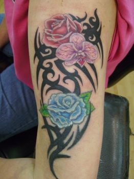 flower tribal after by decrativesoul