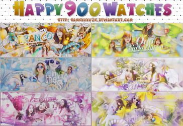 [PACK PSD] HAPPY 900 WATCHES [STOP SHARE] by LittleLeaf2k