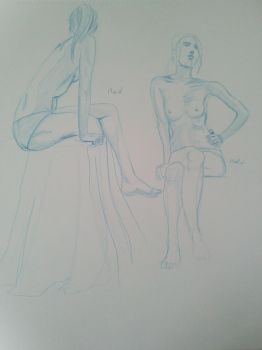 Live model drawing 10 min by EmanuelMacias