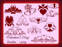 Valentine's Day brush by roula33