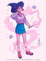 Witch in pink by SimplyLiah