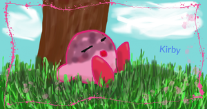 Sleeping Kirby by CreamPurin