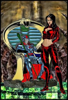 Cobra Commander and The Baroness by DreagusProd