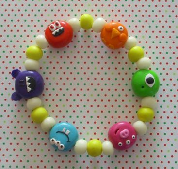 Glowing Monster bracelet... by PORGEcreations