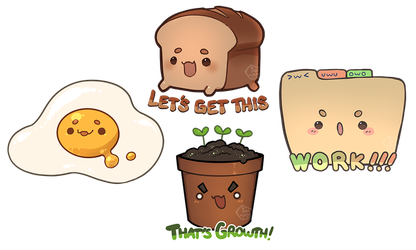 More cute stickers by toripng
