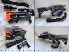 NERF Roughcut Tactical Shotgun by MarcWF