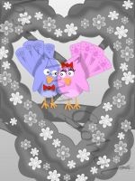 Love birds alternate by amy3dtd