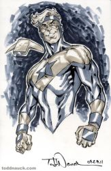 Booster Gold grayscale by ToddNauck