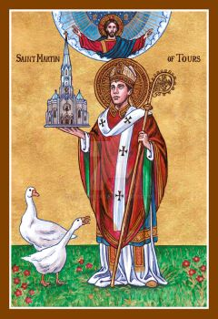 Louisville St. Martin of Tours icon by Theophilia