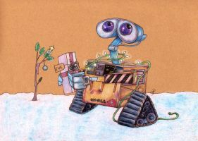Wall-E's Christmas by NickiDoodles