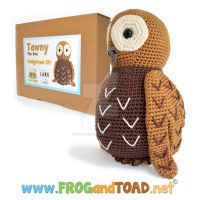 TAWNY la chouette the owl Amigurumi Kit by FROG-and-TOAD