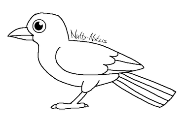 Simple bird lineart by ColossalStinker