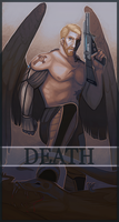 Commission - Jeager Death Card by Serpentwined