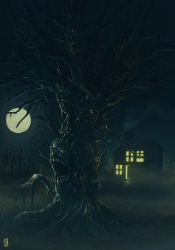 Haunted Tree by TomExton