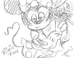 Minnie Mouse and flowers by RichHoboM3