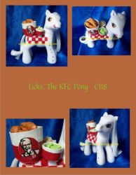 Licks the KFC pony by NorthernElf