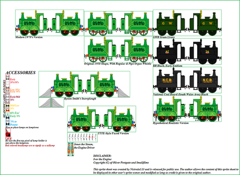 Ivor the Engine Sprite Deluxe Sheet by Nictrain123