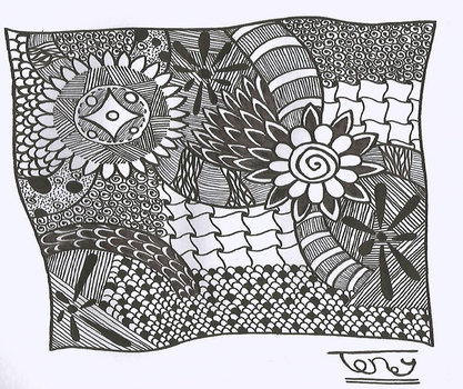 Flower Zentangle NO.7 by smileyface001