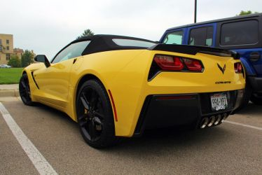 Yellow Vette (2) by PhotoDrive