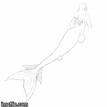 Mermaid Jessica Pearl - Progress gif by CrepeThePancake