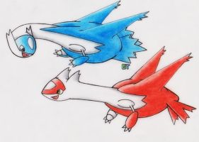 #380+381 - Latias and Latios by GTS257-CT