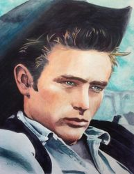 James Dean by paintedmonke