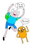 Adventure time - Finn and Jake by Enolla
