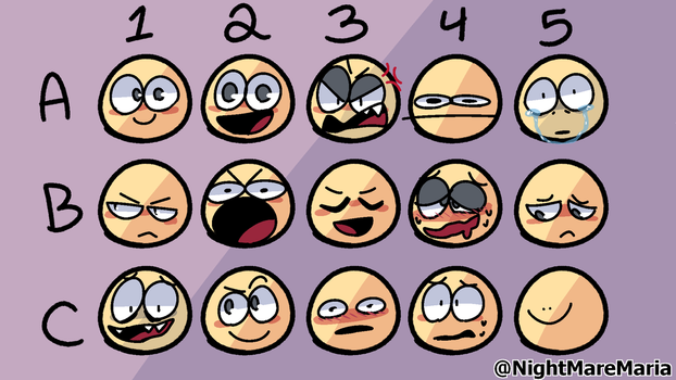 expression sheet by nightmaremaria53941