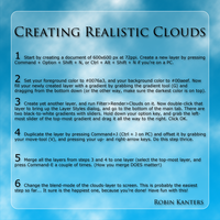Realistic Clouds in Photoshop by chalkwebdesign