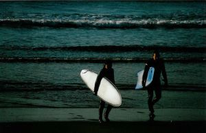 Leaving the surf by sunnie