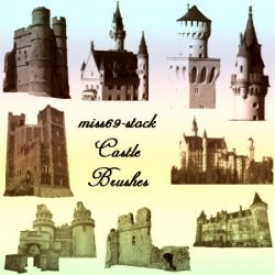 Castle Brushes by miss69-stock