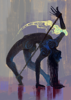 Drawtober 04 - Shackled Wraith by Mao-Ookaneko
